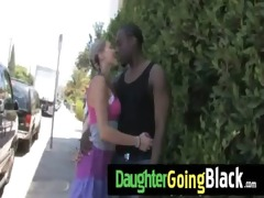 see how my daughter is drilled by a darksome guy