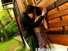 wild outdoor cabin sex