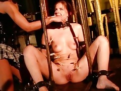 juvenile mistress punishing sex slave beautiful