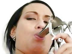 carmen receives her cum-hole gaping by old