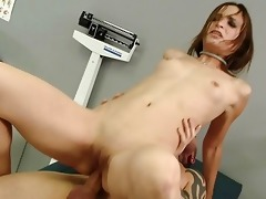 hot youthful lady anally screwed by her doctor