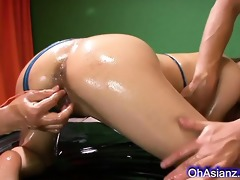young oiled oriental beauty