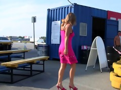 youthful cutie shows marangos and muff on the