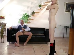 golden-haired schoolgirl pounded by old chap