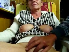 granddad masturbates his wife with fingers