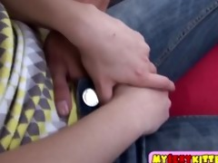 teenage wet crack and a-hole screwed outdoors