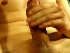 working my schlong whilst watching porn