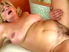breasty grandma fucking a young chap