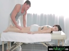 amazing hot cutie receives a fleshly massage