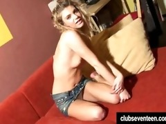 cute legal age teenager megan toy snatch
