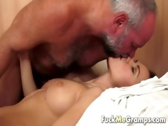 old man has an appetite for youthful vagina