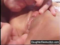 latin babe daughter drilled hard