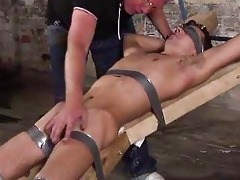 old fetish dude punishing a bigcock bondman chap