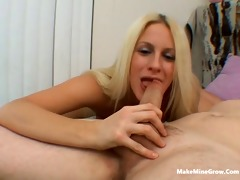 youthful blond show how fine she is engulf wang