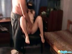 weird russian sex with insane old vet