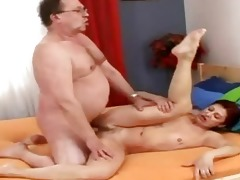 sexually excited old grandmommy receives recent