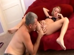 golden-haired copulates her dad