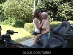 youthful russian hotty rides actually old stud
