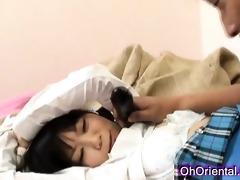 taut young oriental schoolgirl
