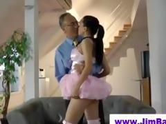 hawt ballerina engulfing off old dude