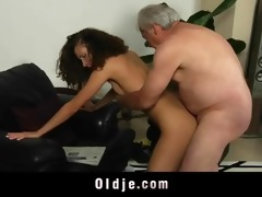 white haired grand-dad copulates lewd stephanie