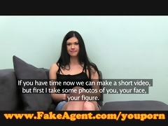 fakeagent first time facial for cute young