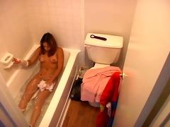 hidden webcam caught young beauty taking a