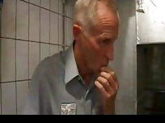 fortunate old dude drilling slim hotty rectal hole