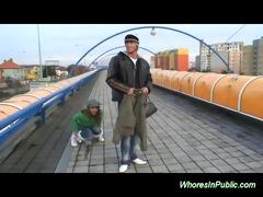 juvenile pair fucking at the bus station