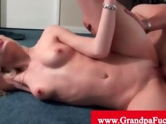 rebecca blue is bawdy cleft licked by old chap