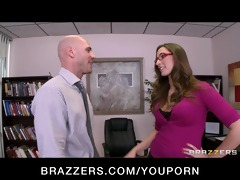 hot dark brown secretary sucks & bonks boss