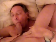old guy engulf a youthful lad and receive a facial