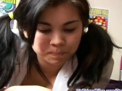 pigtail legal age teenager talking