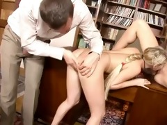 perverted schoolgirls in a three-some