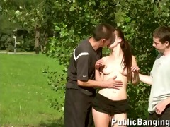 public trio sex in a park part 10