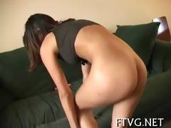 girl is masturbating