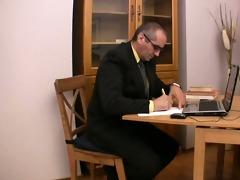 elderly teacher pleasured by glamorous legal age