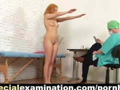 gyno exam for redhead sweetie
