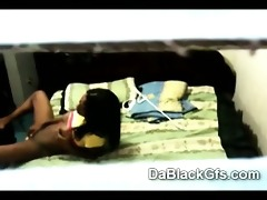 spy webcam caught youthful black beauty