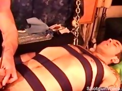 cbt sexy youthful muscular smooth dude tied and