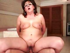 plump grandma fucking her juvenile paramour