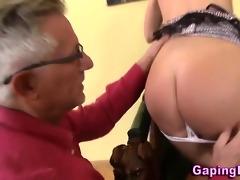 gazoo rimmed chick sucks old guy