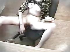 juvenile gf masturbates with large sextoy toy