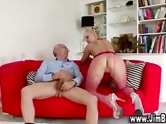 golden-haired youthful hotty doggy style