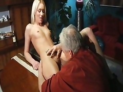 handsome blond sweetheart has wild sex with old
