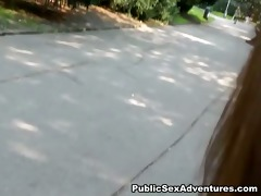a youthful angel took off and fuck on the street