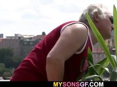 slutty father copulates his sons girlfriend
