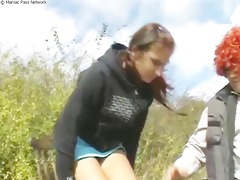perverted cross-age outdoor fuck