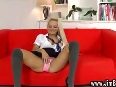 hawt schoolgirl in nylons and sexy heels
