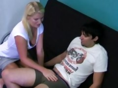 hot blond cook jerking